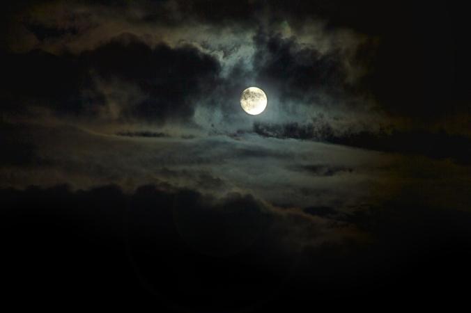 noche de luna en Barcelona