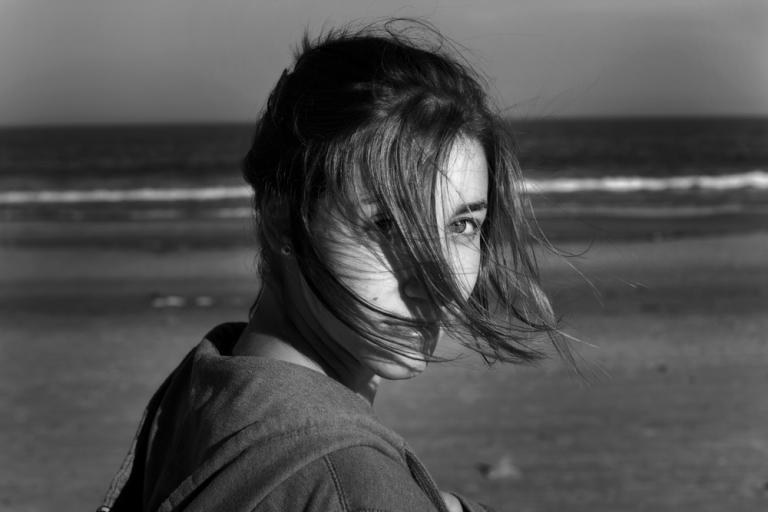 Valentina en la playa